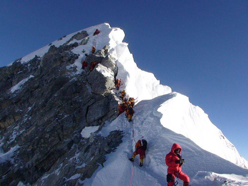 Гора Эверест  самая высокая точка нашей планеты описание