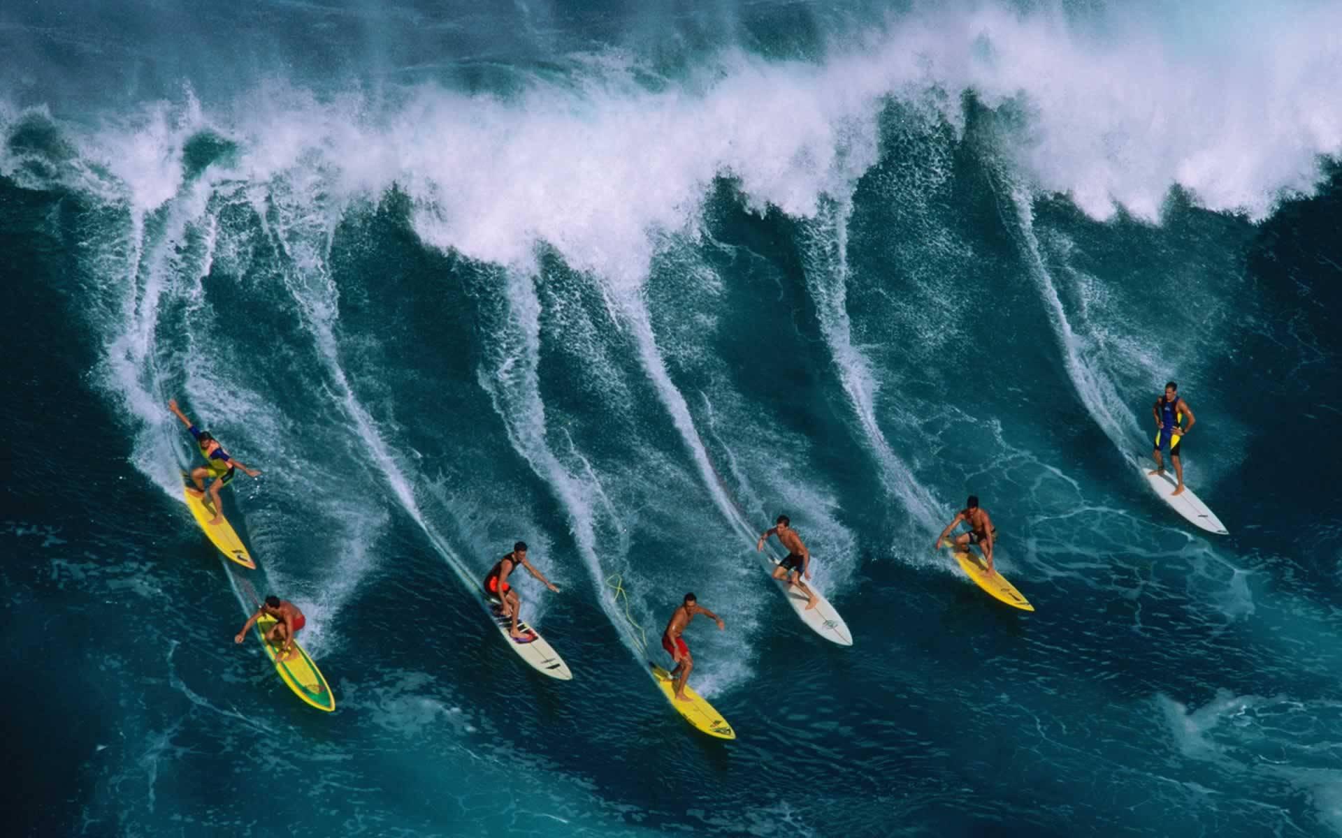 Очень приятная блондинка на серфинге доски